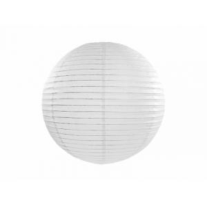 Lampion papierowy, biały, 25cm