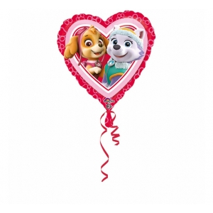 "Balon foliowy 18'' HRT- ""Paw Patrol Love - Girl"""