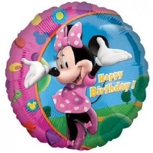 "Balon foliowy 18"" CIR - ""Minnie Happy Birthday"""