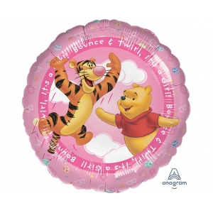 "Balon foliowy 18"" CIR - ""Pooh - It's a Girl"""