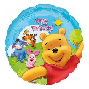"Balon foliowy 18"" CIR - ""Pooh and Friends Sunny BDAY"""