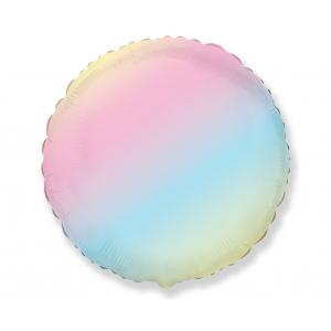 Balon foliowy 18 cali FX - Okrągły (pastel tęczowy)