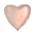Balon foliowy 18 cali FX, SERCE (różowozłoty)