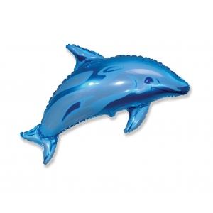 Balon foliowy 24 cale FX - Delfin, niebieski
