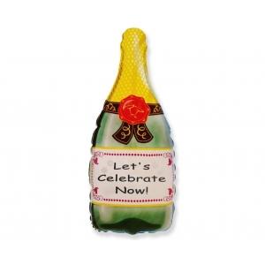 Balon foliowy 24 cali FX, Butelka szampana