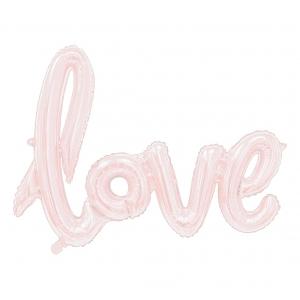 """Balon foliowy """"Napis LOVE"""", różowo-złoty, 68 cm"""