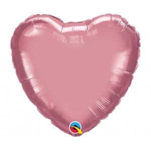 Balon foliowy 18 cali QL HRT chrom fiołkowo-różowy
