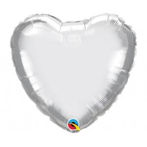 Balon foliowy 18 cali QL HRT chrom srebrny