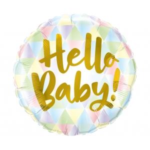Balon foliowy 18 cali QL CIR Hello Baby