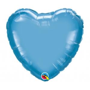 Balon foliowy 18 cali QL HRT chrom niebieski