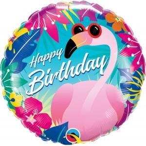 Balon foliowy 18 cali QL HRT Happy Birthday - Flaming