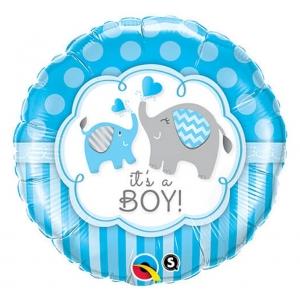"""Balon foliowy 18"""" QL CIR - """"It's A Boy Elephants"""""""
