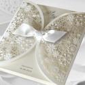 Zaproszenia Ślubne wykonane z papieru w kolorze białym F1198tb