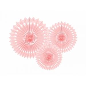 Rozety dekoracyjne, j. p. róż, 20-30cm
