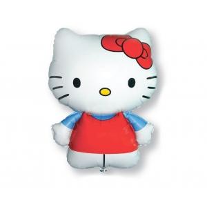 Balon foliowy 24 cale FX - Hello Kitty (czerwona kokardka)