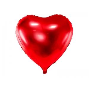 Balon foliowy Serce, 61cm, czerwony