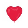 Balony CR pastelowe Serca bez nadruku - czerwone 45/ 100 szt.