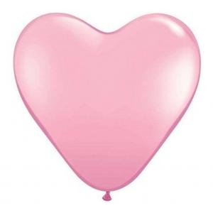 "Balon QL serce 6"", pastel j. różowy / 100 szt."