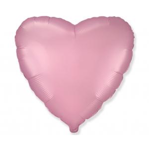 Balon foliowy 18 cali FX - Serce (satynowy pastel jasnoróżowy)