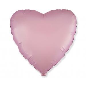 Balon foliowy 18 cali FX - Serce (satynowy pastel liliowy)