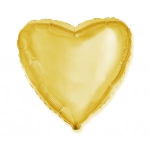 """Balon foliowy 18"""" FX - """"Serce"""" (złote)"""