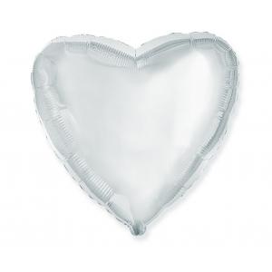 "Balon foliowy 18"" FX - ""Serce"" (srebrne)"