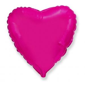 """Balon foliowy 18"""" FX - """"Serce"""" (ciemnoróżowe)"""