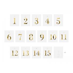 Numery na stół - zestaw naklejek, 9,5x12cm