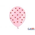 Balony 30 cm, Serca, Pastel Baby Pink
