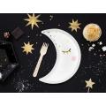 Talerzyki Little Star - Księżyc, biały, 10,5x24cm