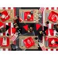 Talerzyki Piraci, czerwony, 20x20cm