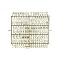 Tablica z literami Serce, mix, 31x29cm