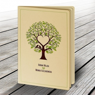 Rustykalne Zaproszenie z Drzewem F1334p