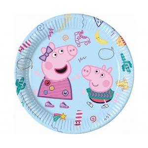 Talerzyki papierowe Peppa Pig, 23 cm, 8 szt.