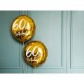 Balon foliowy 60th Birthday, złoty, 45cm