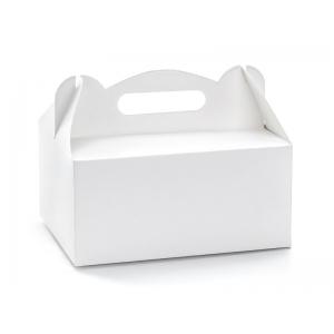 Ozdobne pudełka na ciasto, biały, 19x14x9cm