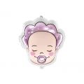 Balon foliowy Bobas - Dziewczynka, 40x45cm, mix