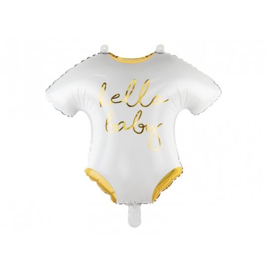 Balon foliowy Śpioszki - Hello Baby, 51x45cm, biały