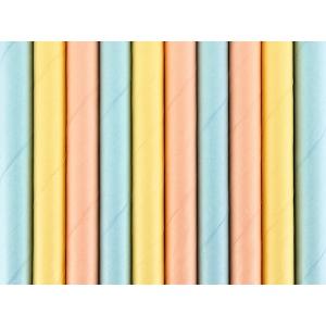 Słomki papierowe Summer time, 19,5cm