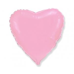"""Balon foliowy 18"""" FX - """"Serce"""" (różowe delikatne)"""