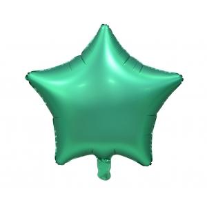 """Balon foliowy """"Gwiazda"""", matowa, zielona, 19"""""""