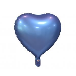 """Balon foliowy """"Serce"""", matowe, barwinek, 18"""""""