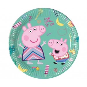Talerzyki papierowe Peppa Pig, 20 cm, 8 szt.