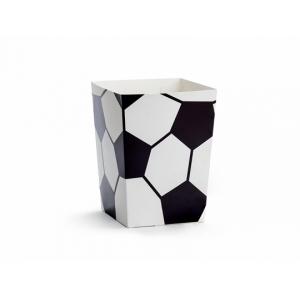 Pudełka na popcorn Piłka, mix, 7x7x12cm