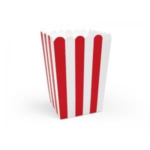 Pudełka na popcorn, mix, 7x7x12,5cm