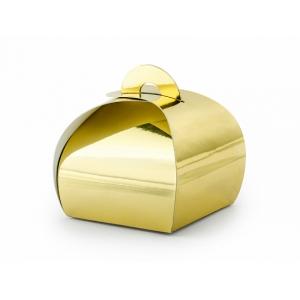 Pudełeczka, złoty, 6x6x5,5cm