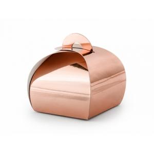 Pudełeczka, różowe złoto, 6x6x5,5cm