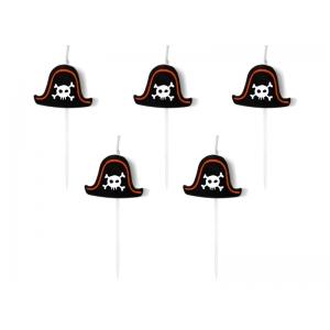 Świeczki urodzinowe Piraci, 2cm