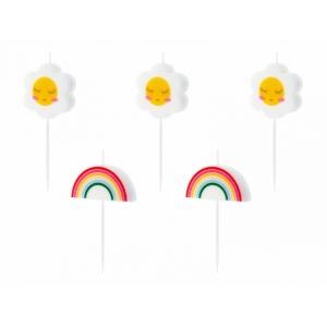Świeczki urodzinowe Stokrotki, 2-3.5cm