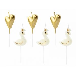 Świeczki urodzinowe Lovely Swan, mix, 3,5-4cm